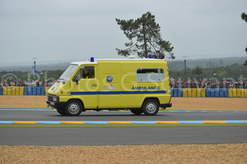 The rescue for the driver, 22/06/2013 Le Mans. FRANCE