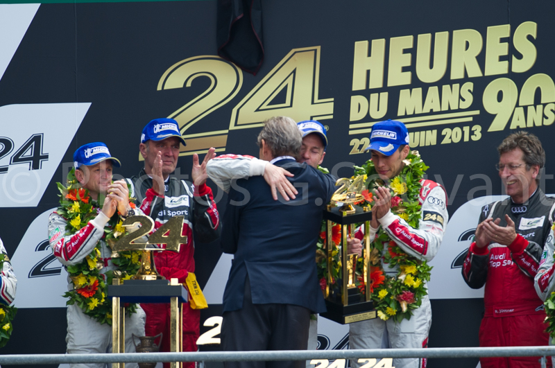 The podium of the 90 th edition of the 24H, 23/06/2013 Le Mans. FRANCE
