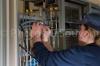 Electriciens centrale biomasse, 27/02/2013 St Pierre des Corps. FRANCE