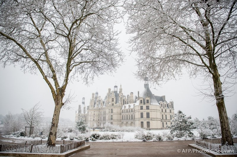 FRANCE - WEATHER - SNOW - CHAMBORD - TOURISM