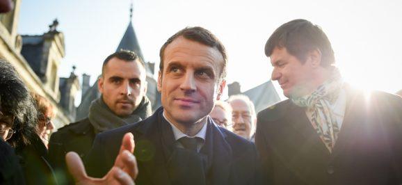Emmanuel Macron en campagne