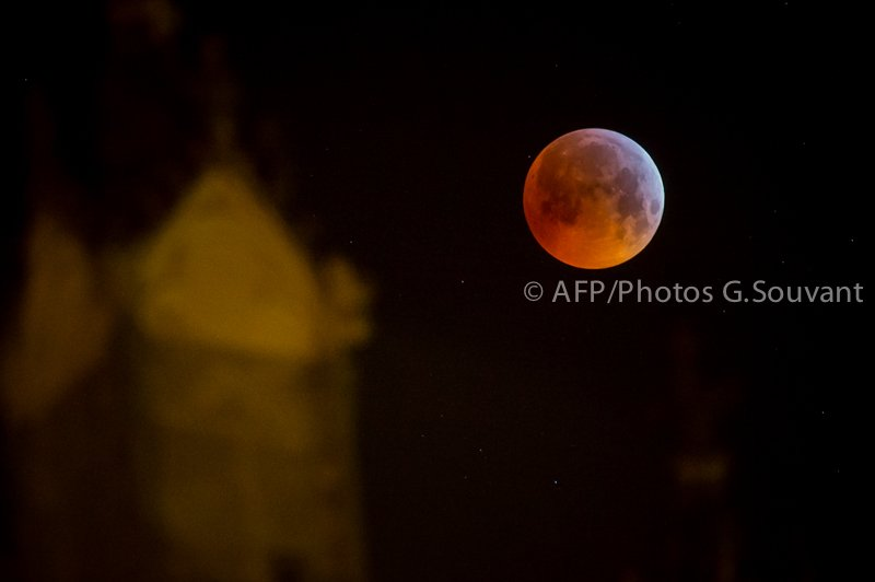 ASTRONOMY - ECLIPSE - MOON - ENVIRONMENT - LUNE